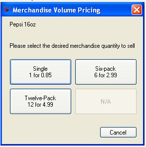 Selecting Volume Pricing